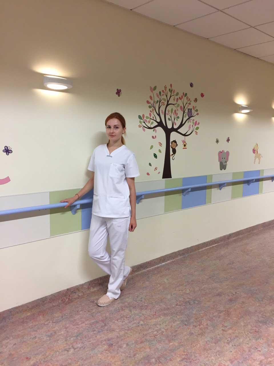 в отделении педиатрии